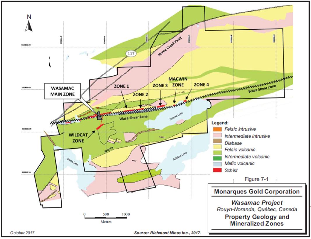 Wasamac geology map