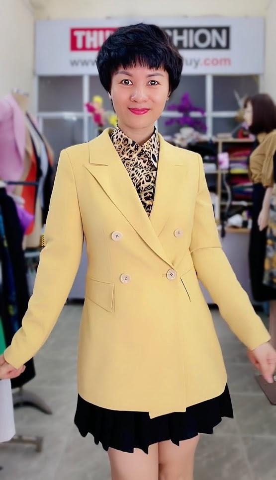 Áo vest nữ mix đồ áo sơ mi và chân váy xòe V730 thời trang thủy hải phòng
