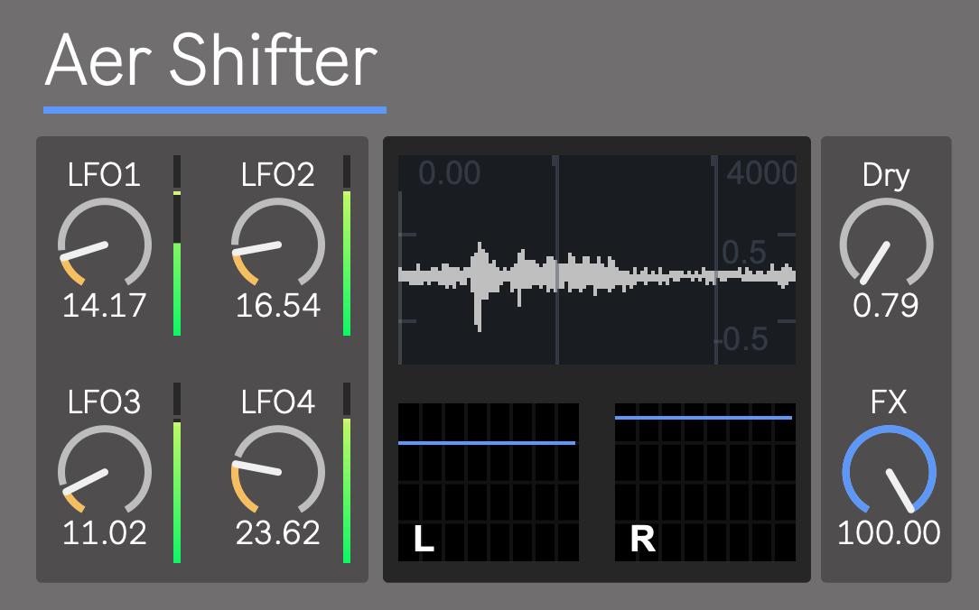 ableton M4L Aer Shifter