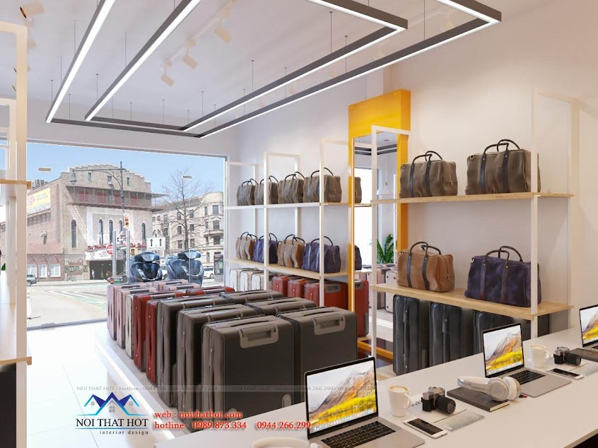 thiết kế shop vali