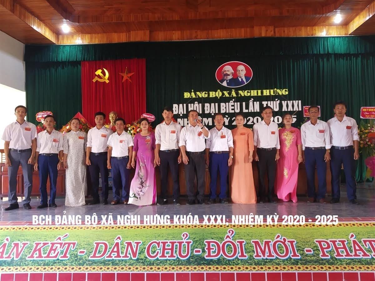 Ban Chấp hành Đảng bộ xã Nghi Hưng khóa XXXI, nhiệm kỳ 2020 - 2025.