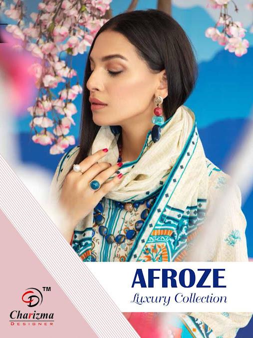 Afroze Luxury Collection Charizma Designer Pakistani Dress Material Manufacturer Wholesaler