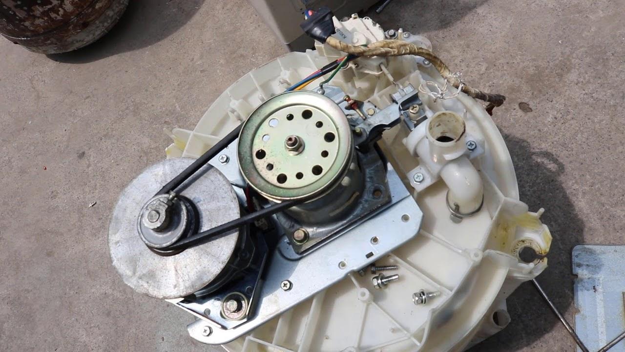 Lồng máy giặt không quay khi bị gãy chảng ba, hư hộp số