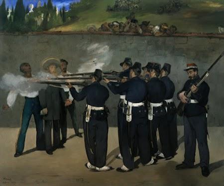 Éduard Manet, Die Erschießung Kaiser Maximilians (III), 1868/69,</p><p> Öl auf Leinwand, 252 mal 302 cm,</p><p> Mannheim, Städtische Kunsthalle