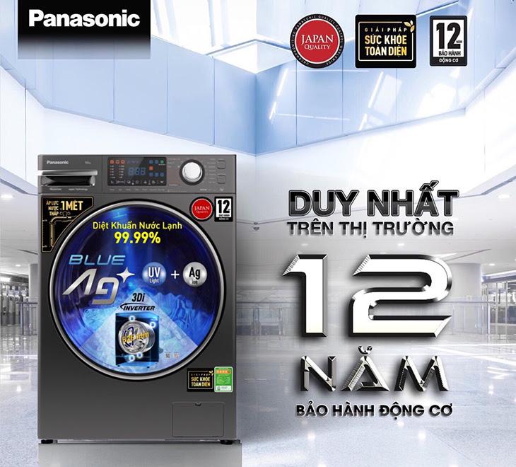 Máy giặt Panasonic lồng ngang FX2 được bảo hành lên đến 12 năm