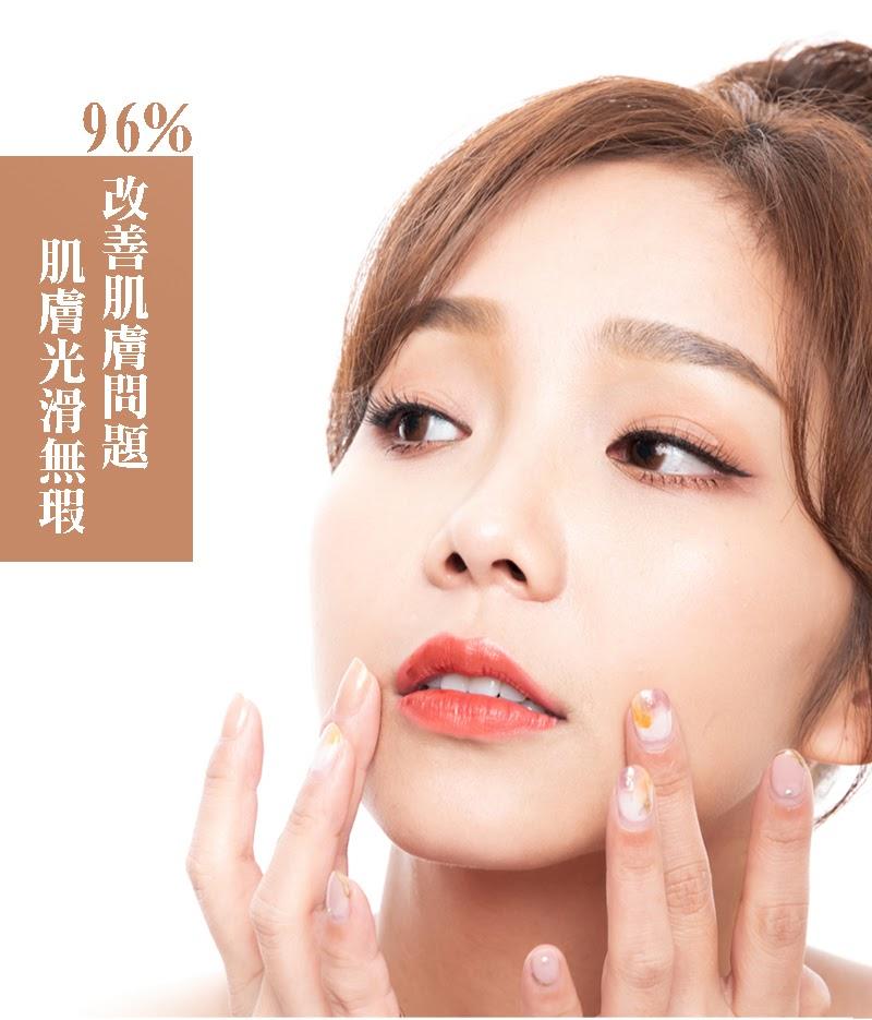 96%感善肌膚問題