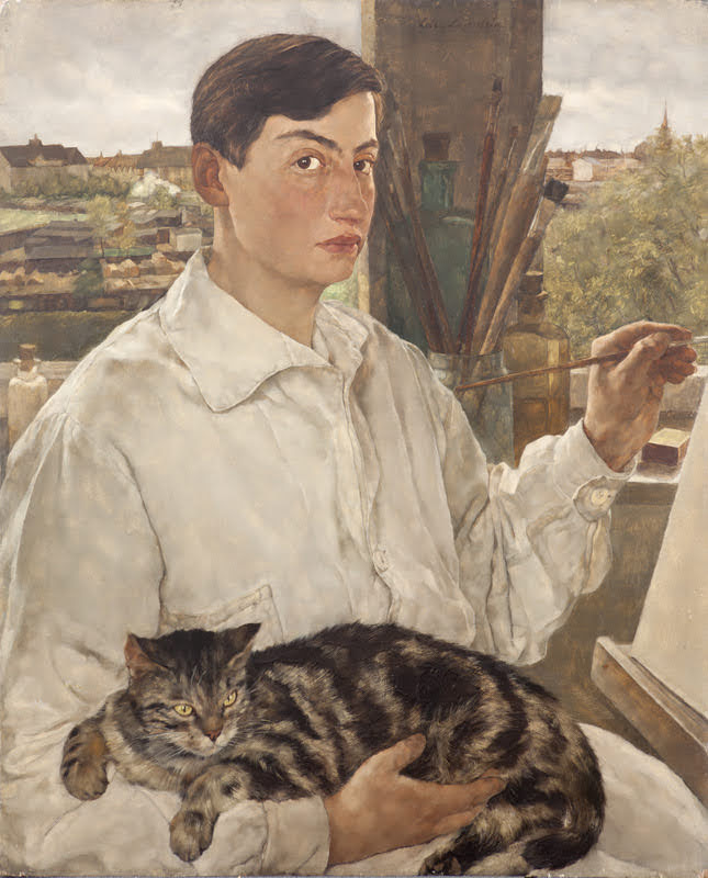 Leicester_Lotte-Laserstein_Self_portrait_with_a_cat_1928