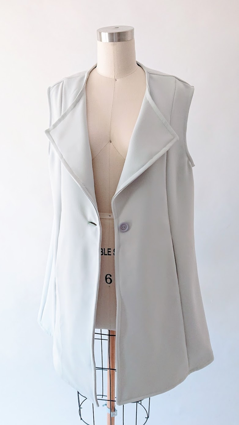 Result: Sleeveless Coat - Reimagine | Fafafoom Studio