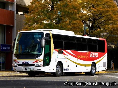京王バス「広瀬ライナー」夜行便 51201