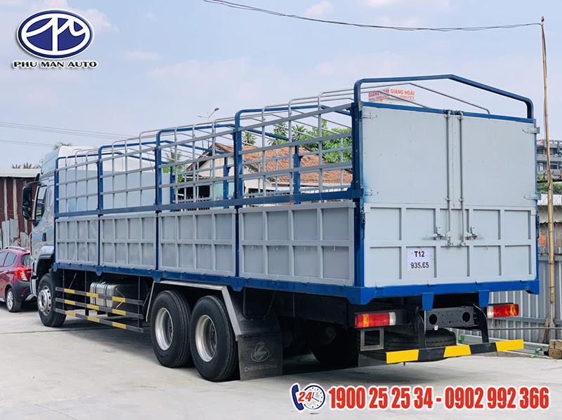 thùng xe tải chenglong 3 chân 14 tấn