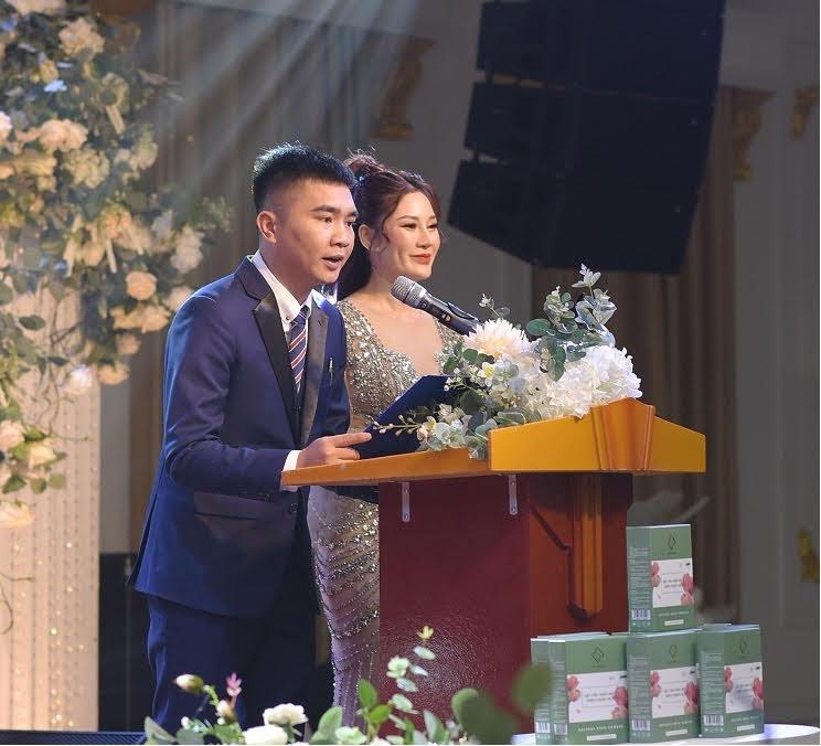 Ông Hoàng Nguyễn Trọng Dũng – CEO HGP Group  phát biểu ý kiến về sản phẩm HGP Beauty