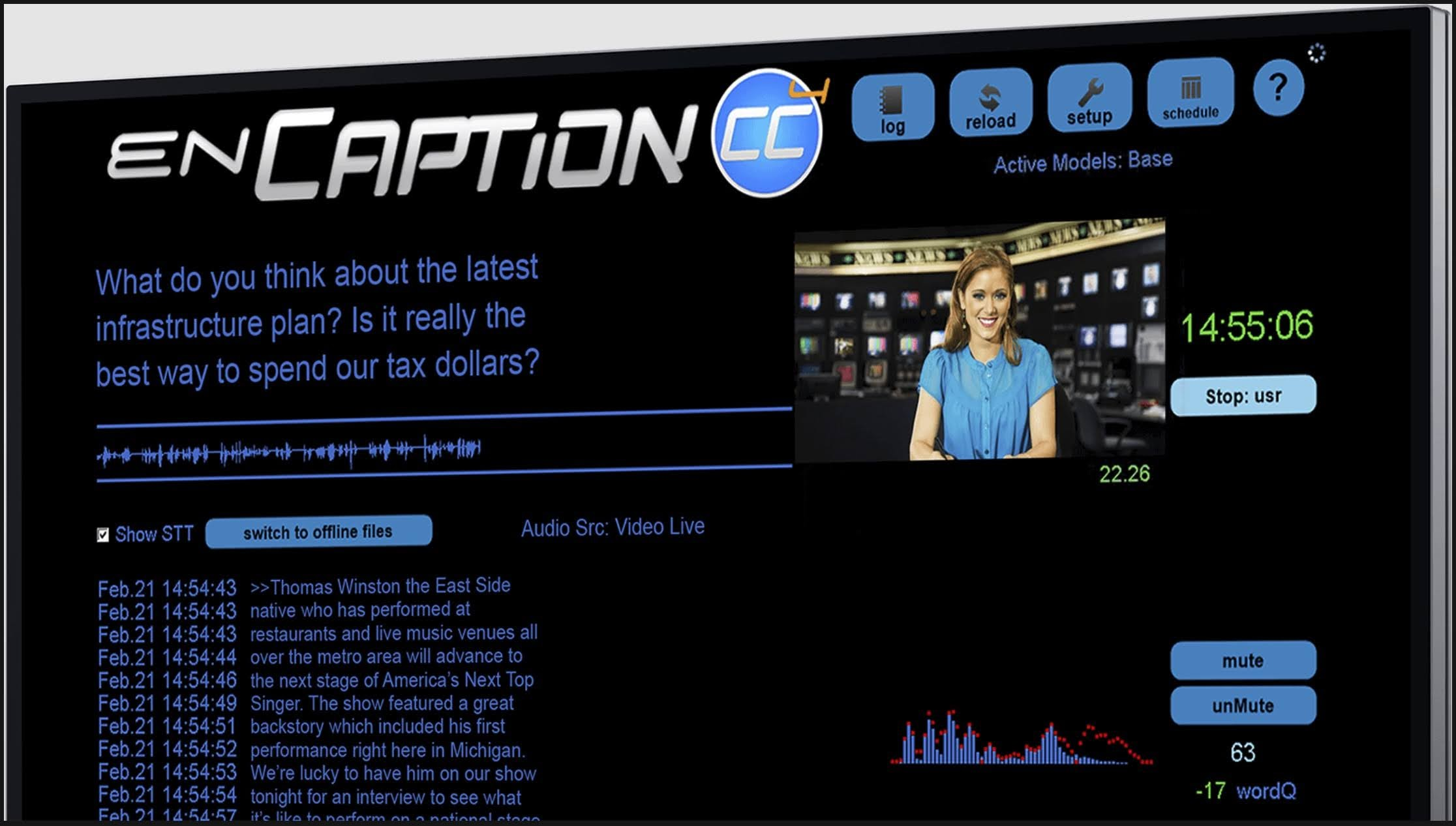 ENCO enCaption Automated Captioning and Transcription Solution for Live or Recorded Video