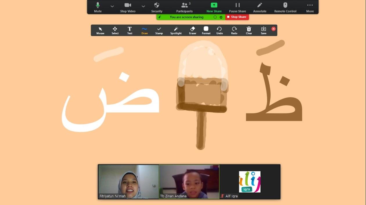 materi huruf hijaiyah disampaikan dengan cara menyenangkan