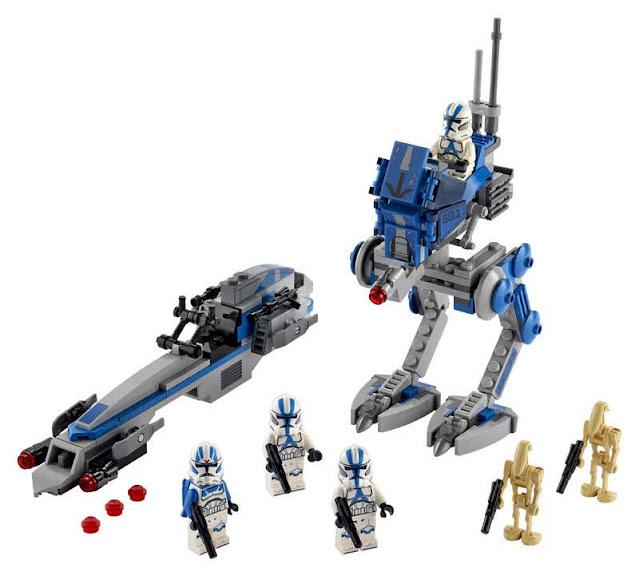 Contenido de Lego® 75280 Soldados Clon de la Legión 501