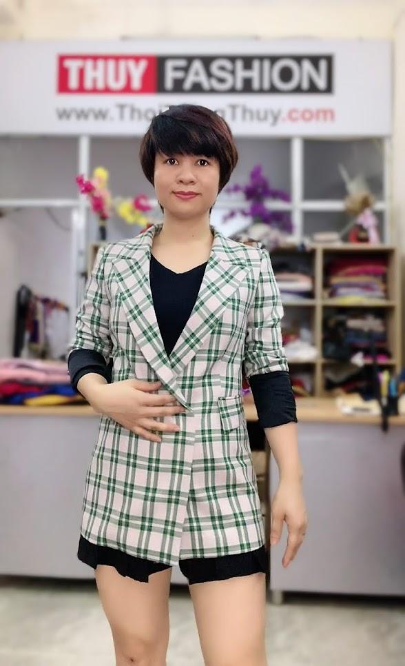 Chú ý lựa chọn áo vest nữ kẻ caro V736 thời trang thủy hà nội