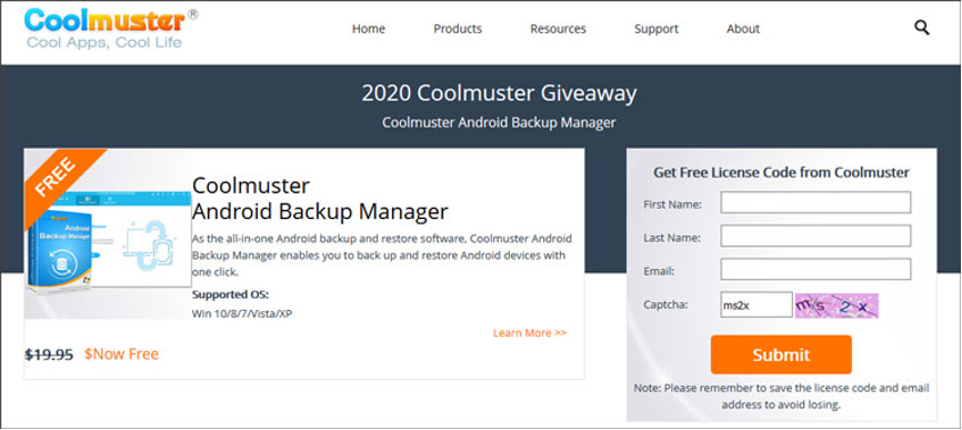 Coolmuster Giveaways: Back Up and Restore Android Files for Free
