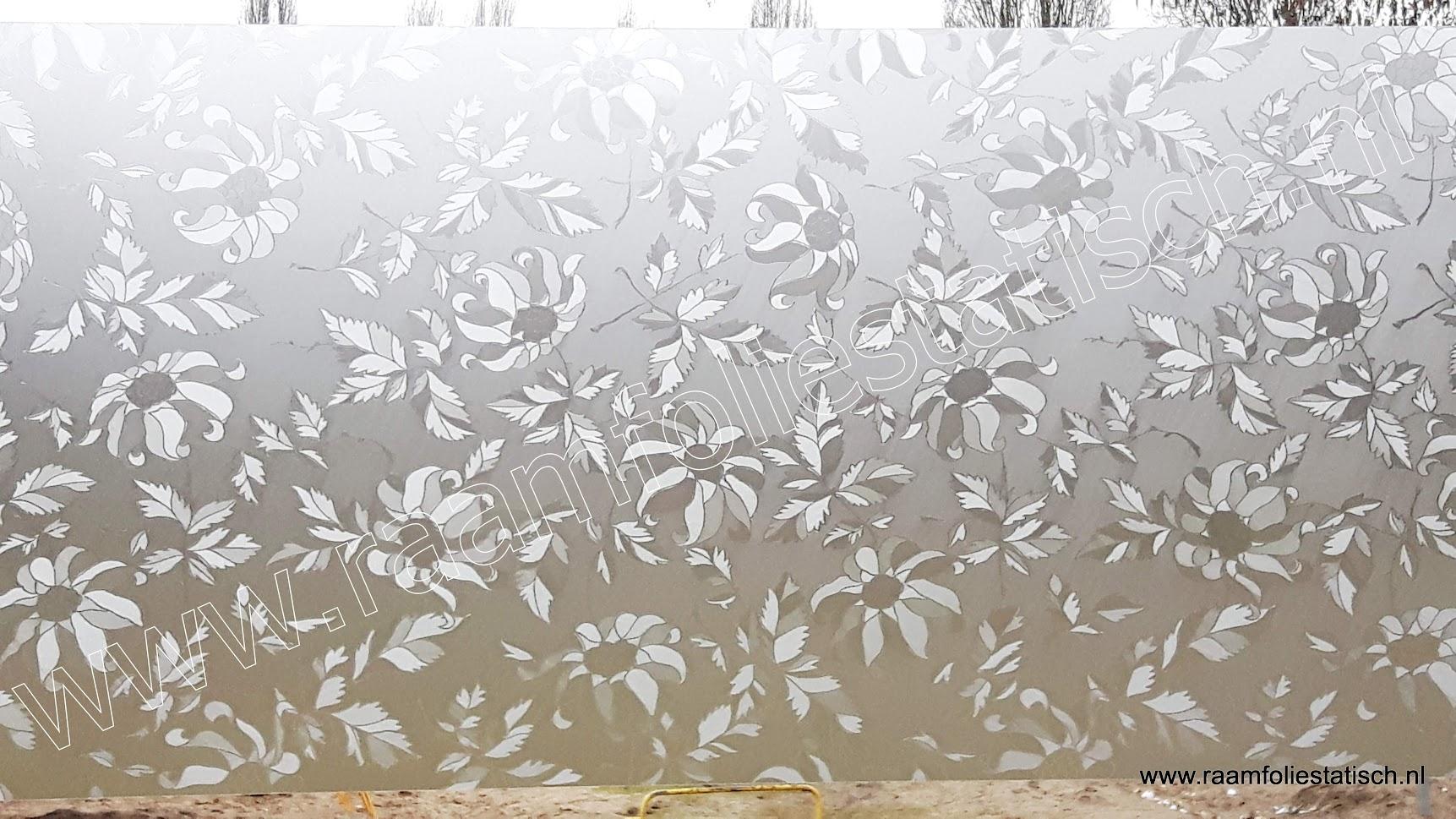 plakfolie voor ramen damast bladmotieven