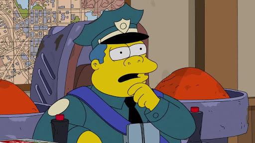 Los Simpsons 26x16 Policía del cielo