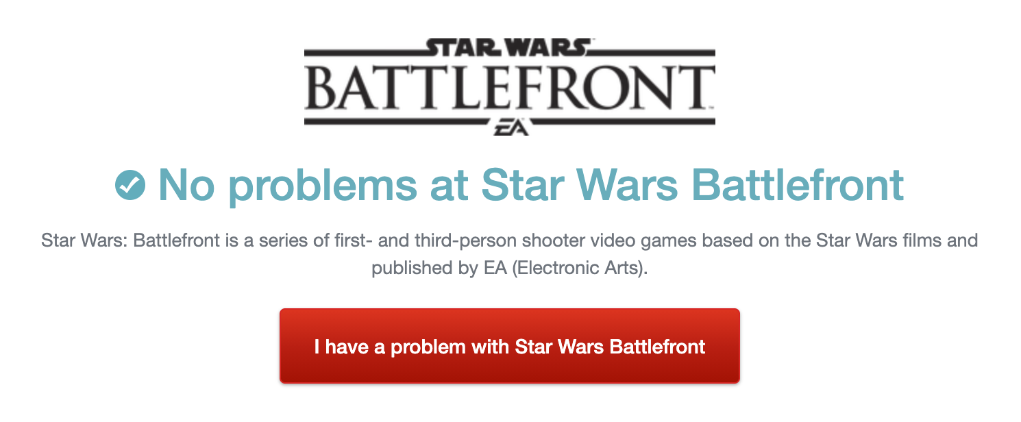 Down Detector / Star Wars Battlefront