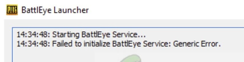 Fix for Failed to initialize BattlEye Service: Generic Error
