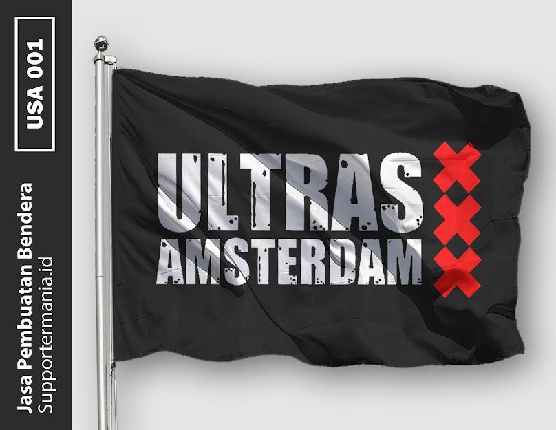 Desain Bendera atau Mini Flag Ultras Ajax Amsterdam