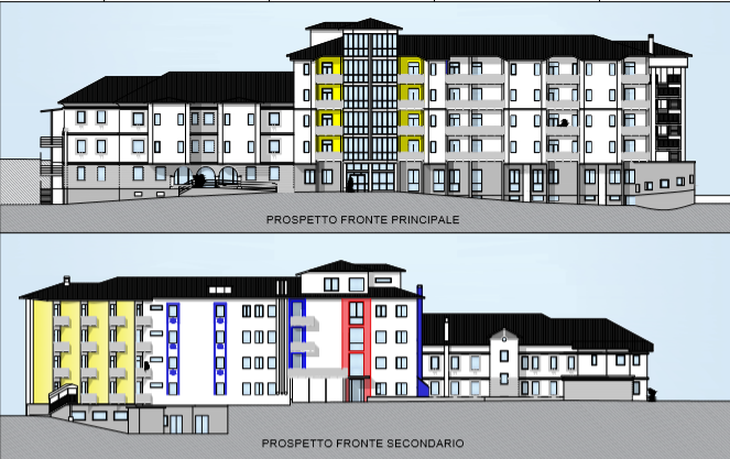 Prospetto ristrutturazione Ospedale Lamon 2020