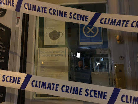 Welshpool banks targeted by climate group