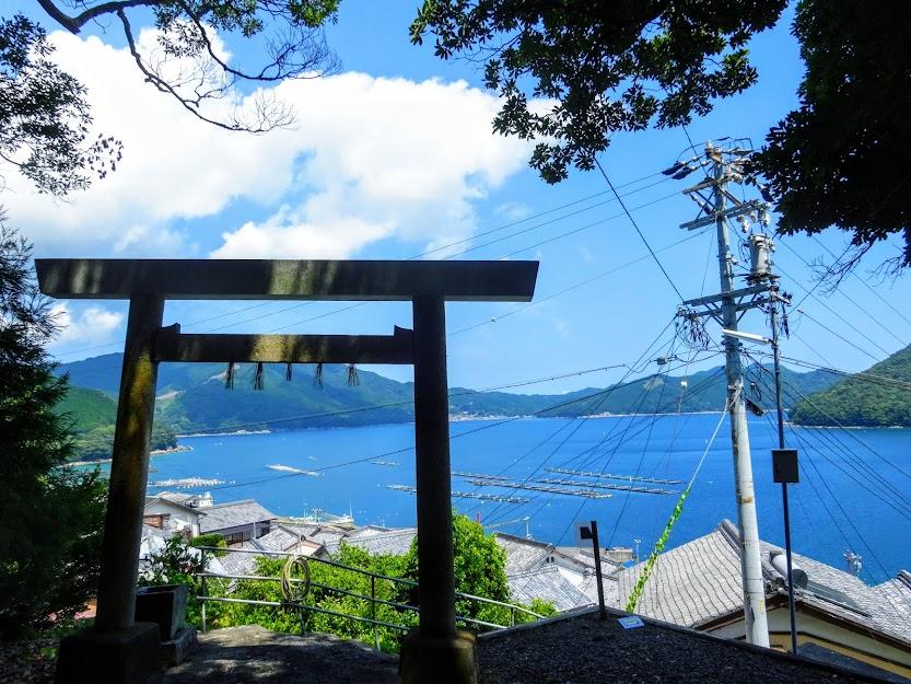 熊野灘に面する高密な漁村集落『古江』