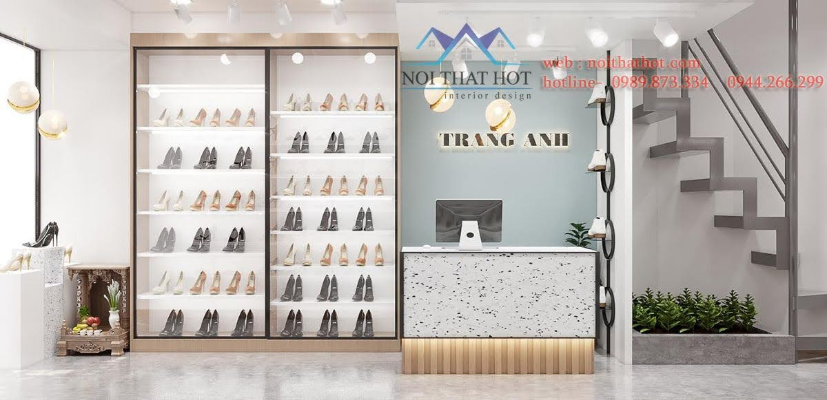 thiết kế shop giày dép nhỏ đẹp