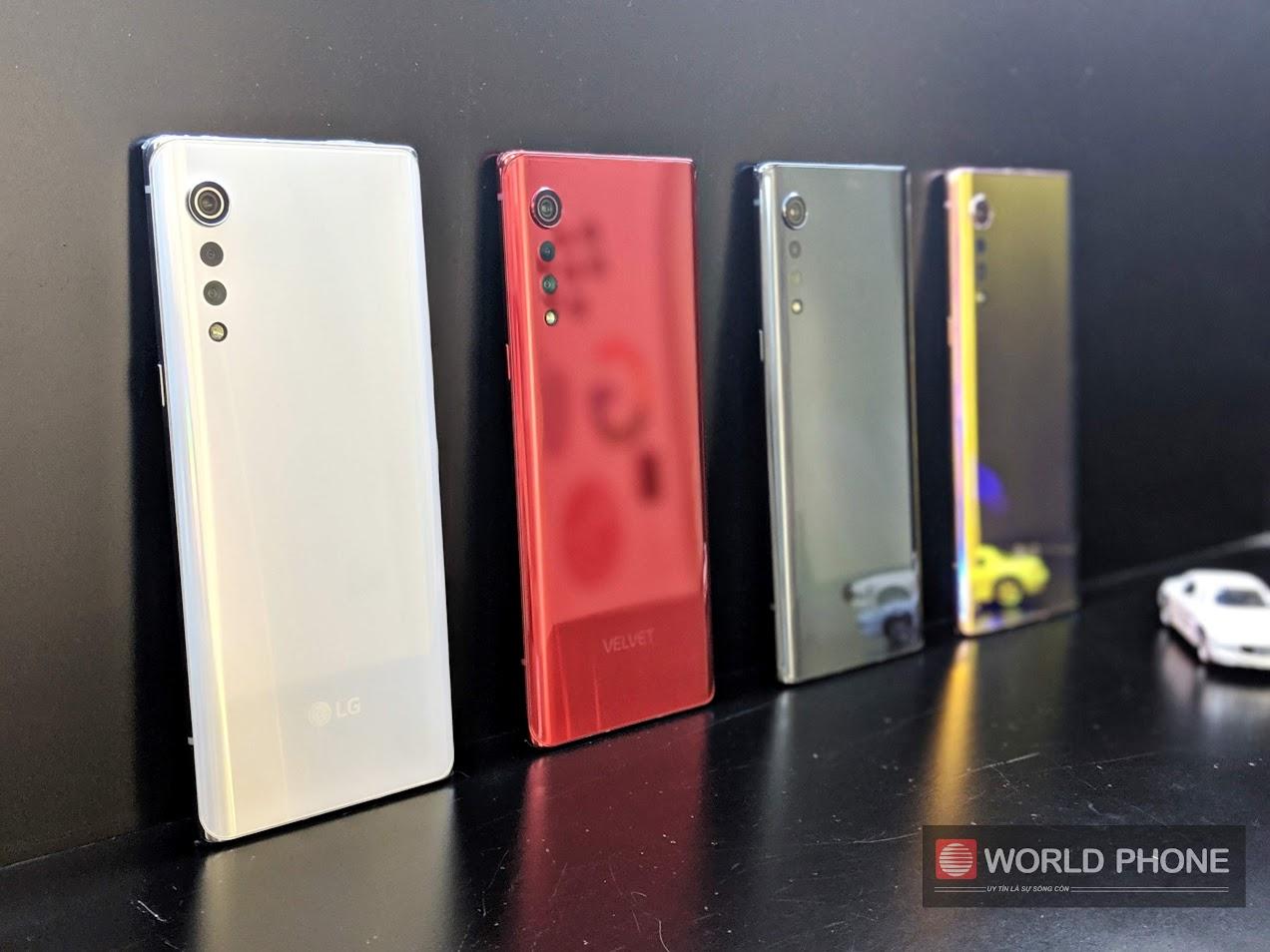 LG Velvet với 4 lựa chọn màu