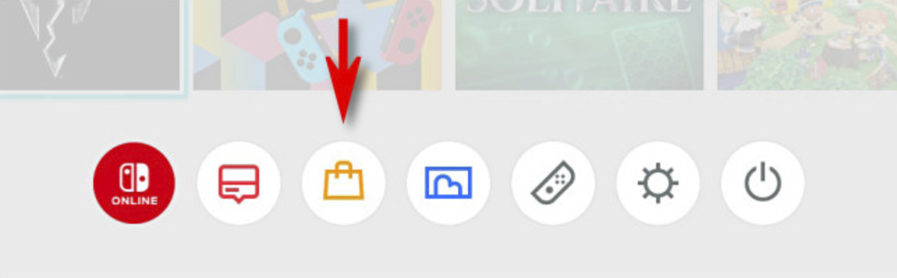 Tap on the shopping bag icon on the home screen to start the Nintendo Switch eShop.