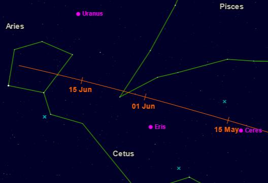 Vyhľadávacia mapka kométy 10P/Tempel 2