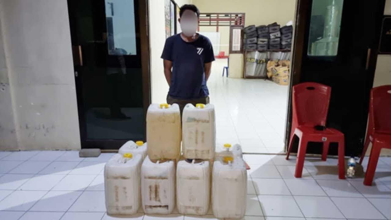 250 Liter Cap Tikus Diamankan Polres Minut di Kalawat