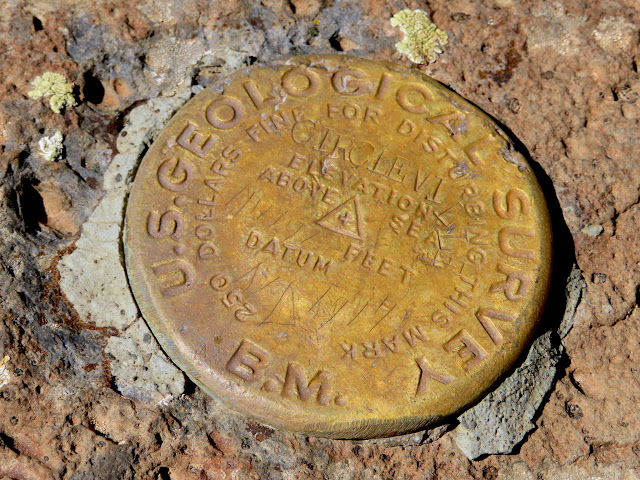 Survey marker at the Circleville Mountain summit