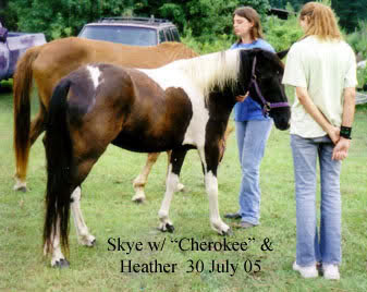 Skye shows LP Painted Cherokee to Heather