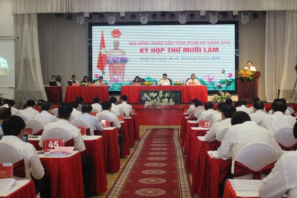 Kỳ họp thứ 15, HĐND tỉnh khóa XVII diễn ra từ ngày 20-22/7/2020.