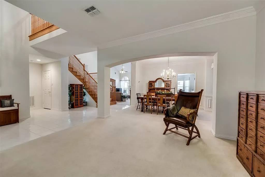 formal living room with dining - before