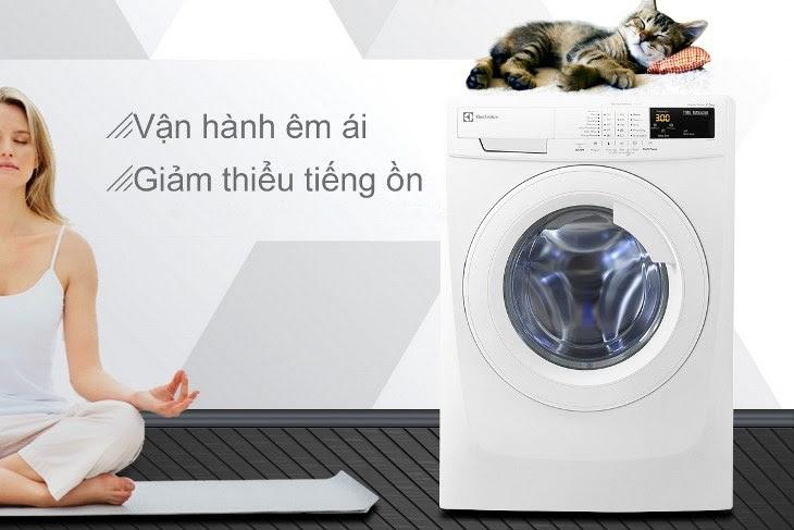 ưu điểm vận hành êm ái của máy giặt cửa trước