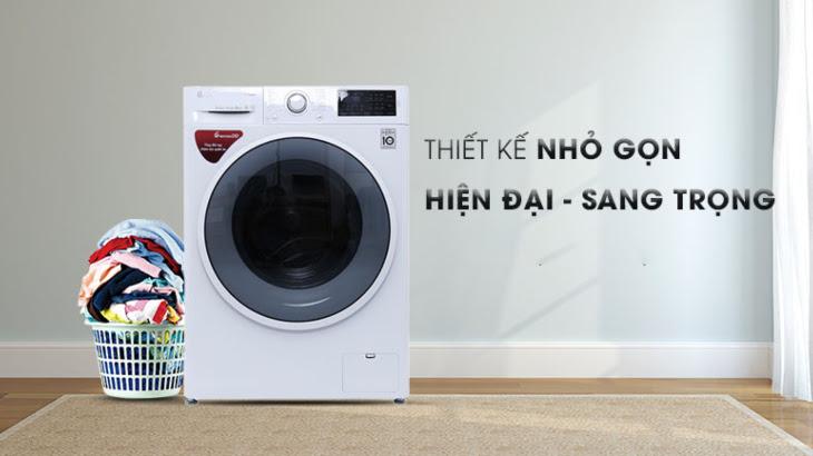 Máy giặt LG với thiết kế tinh tế, sang trọng và hiện đại