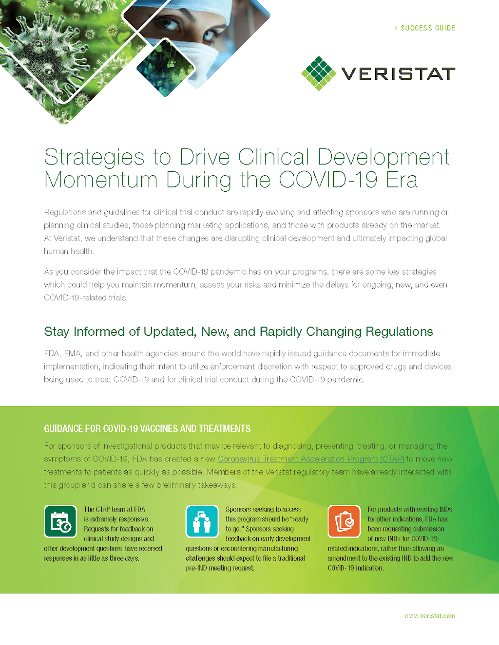 Success Strategies to Drive Clinical Development Momentum During COVID-19