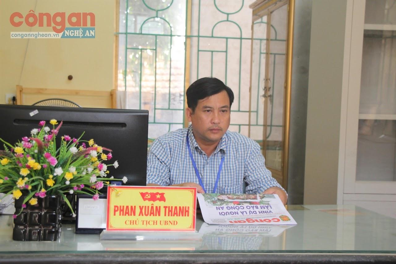 Đồng chí  Phan Xuân Thanh,                    Chủ tịch UBND xã Xuân Mỹ
