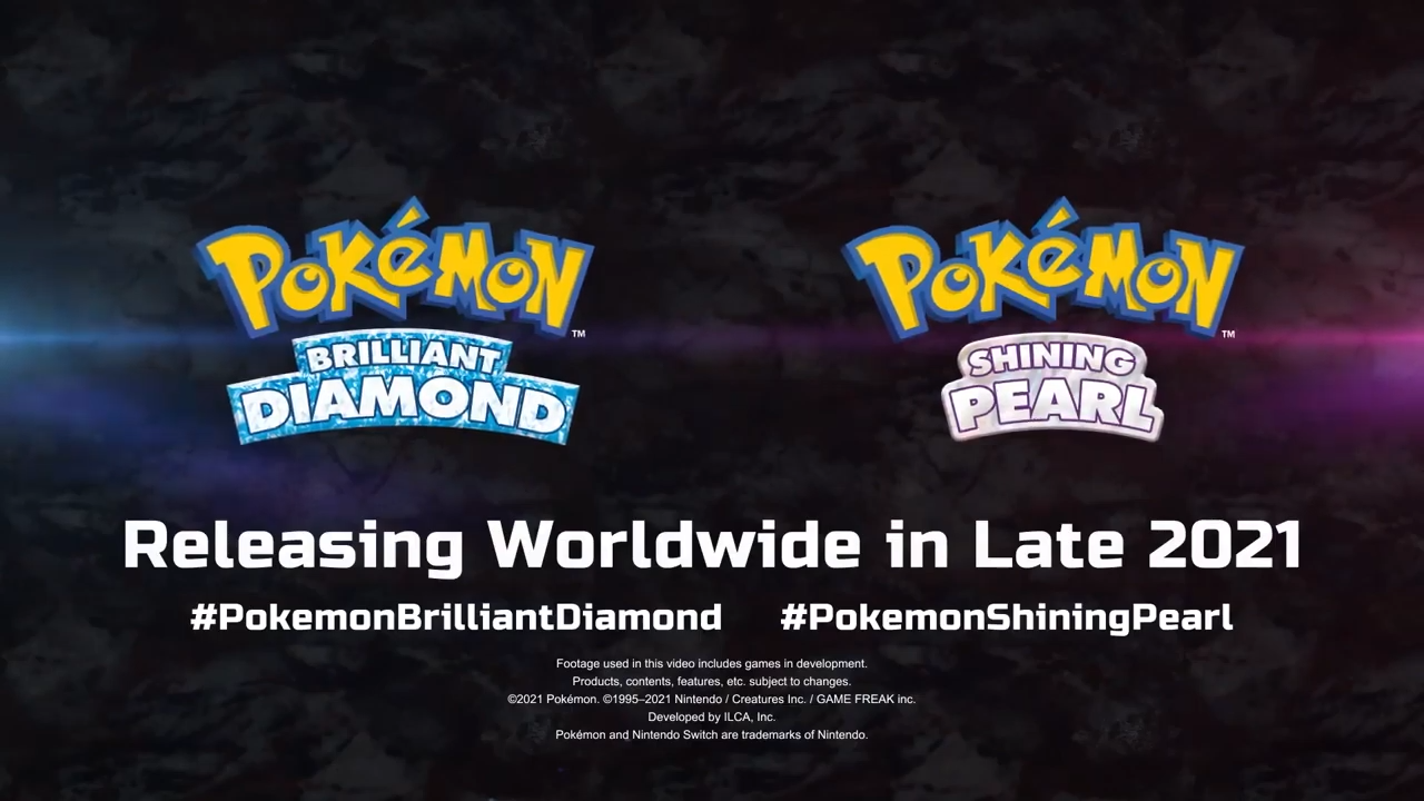 Pokemon Brilliant Diamond and Shining Pear Announced