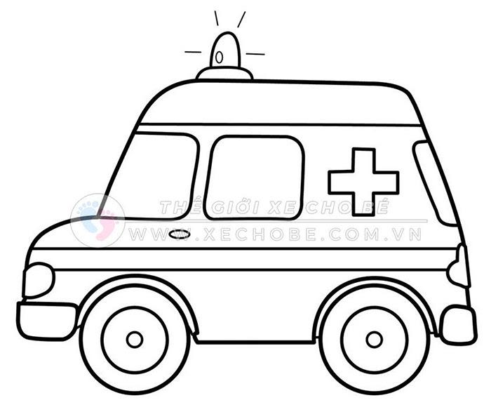 tranh tô màu xe ô tô cho bé 3