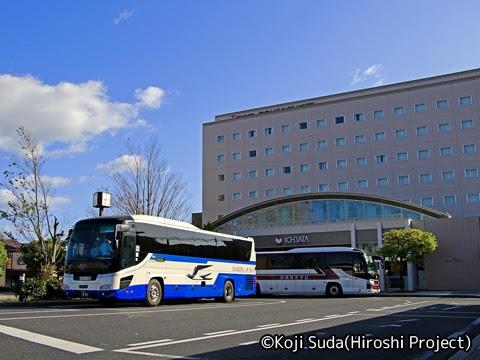 中国JRバス「出雲ドリーム博多号」 641-3955 JR出雲市駅到着_02