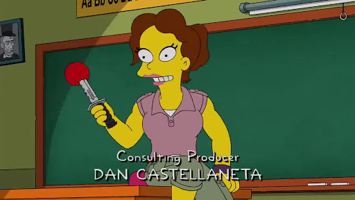 Los Simpsons 27x11 Obstáculos causados por la leche en adolescentes mutantes