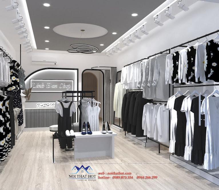 thiết kế shop quần áo tại thái bình