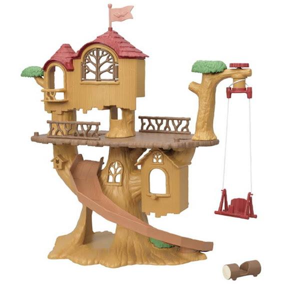 Contenido real de Sylvanian Families 5450 Casa del Árbol de Aventuras