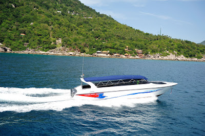 Travel from Koh Tao to Surat Thani Tapee Pier by Lomlahk Khirin speed boat