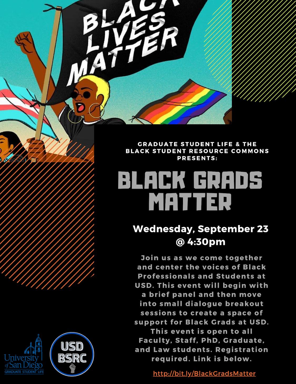 GSL & BSRC Black Grads Matter, Wednesday, September 24 at 4:30pm