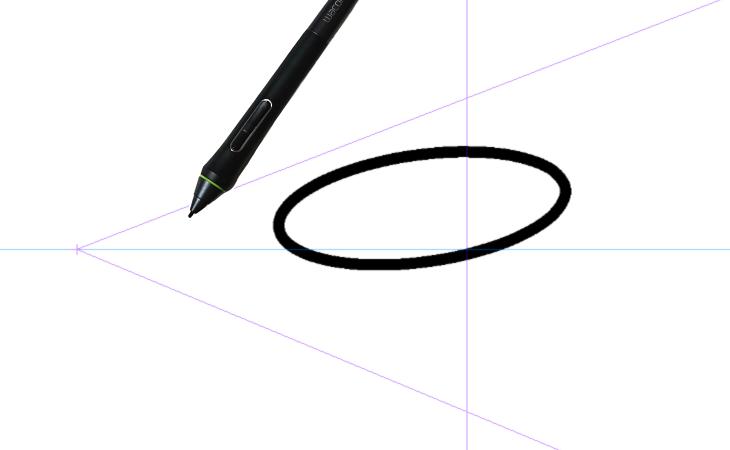 クリスタのパース定規と円描画